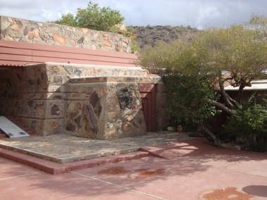 Frank Lloyd Wright Front Door at Taliesin West